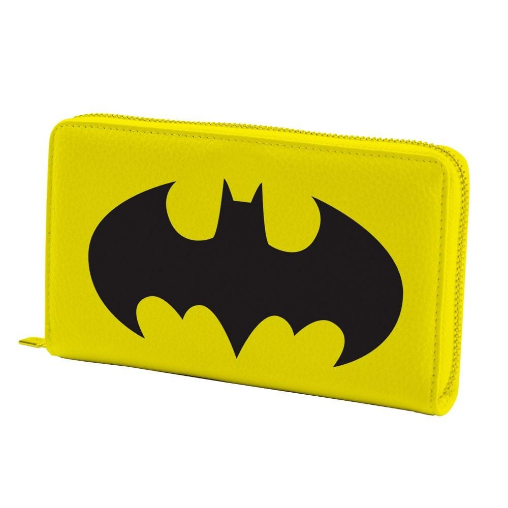 Carteira Batman Logo com Zíper Amarela