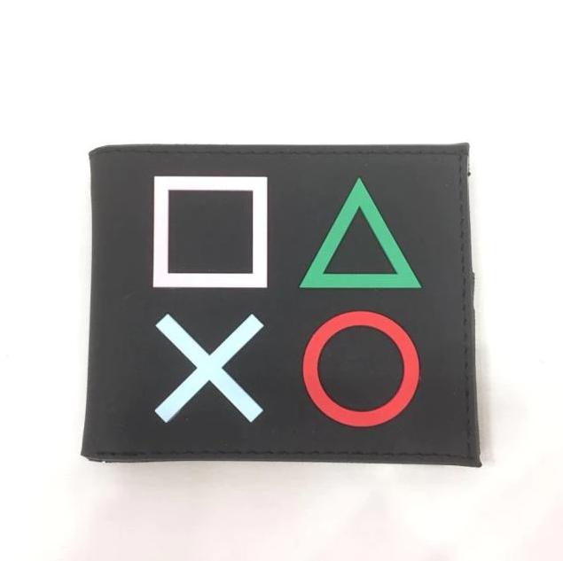 Carteira Botões Playstation: Sony (Preta) (Borracha) - EVALI