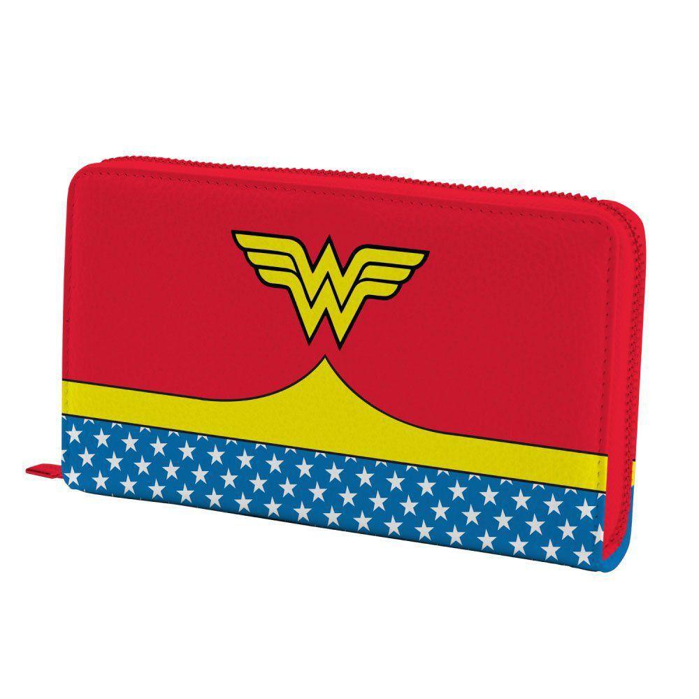 Carteira com alça e zíper DC Comics: Wonder Woman (Mulher Maravilha) Uniforme Vermelho - Urban