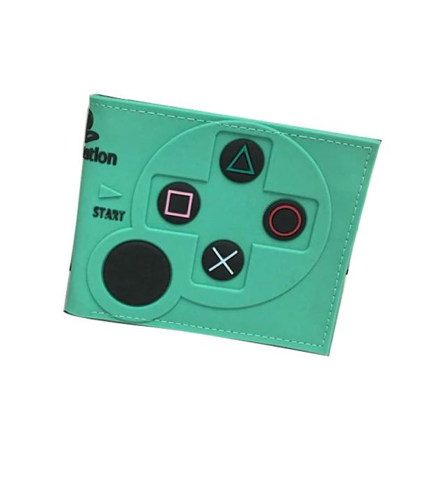 Carteira Controle Playstation 2: Sony (Verde Agua) (Borracha) - EVALI