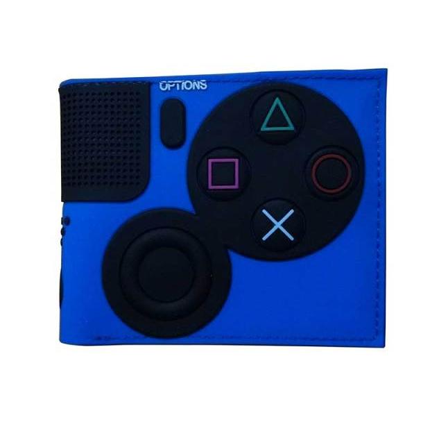 Carteira Controle Playstation 4: Sony (Azul) (Borracha) - EVALI
