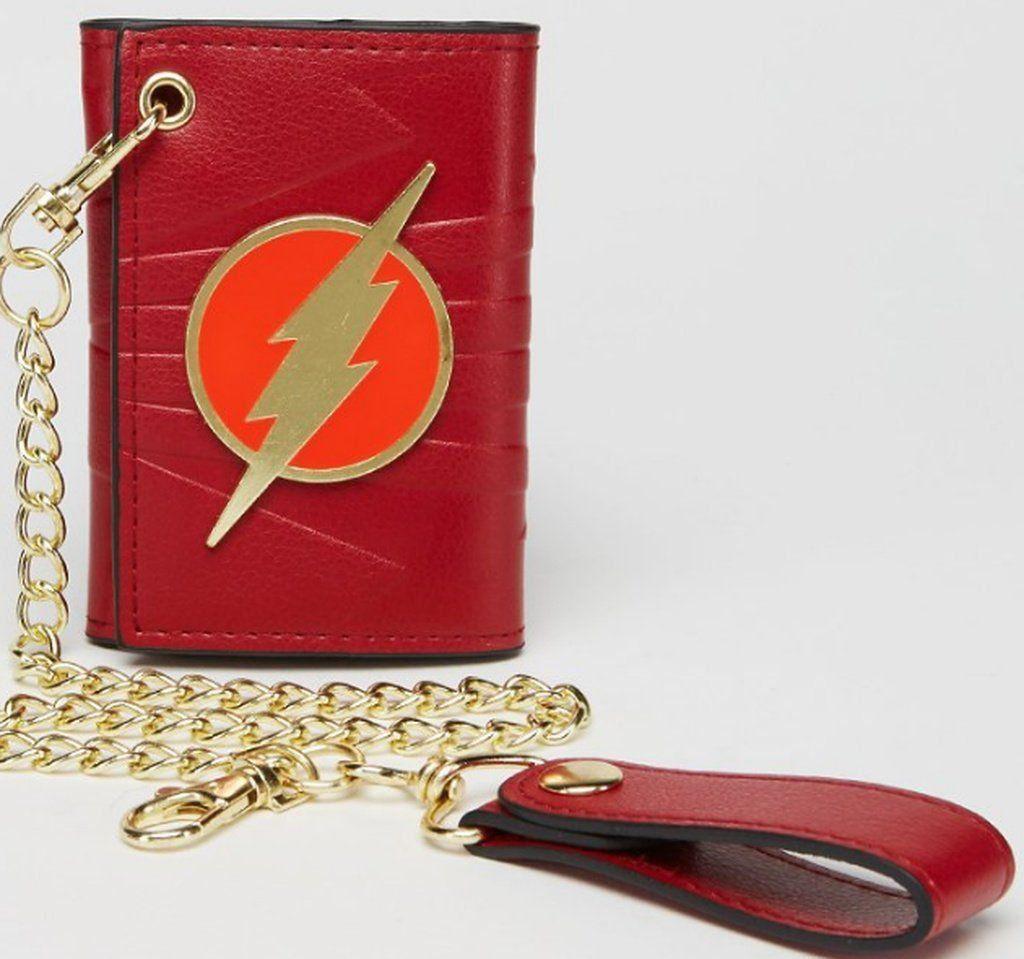 Carteira Couro Flash - Vermelho com corrente