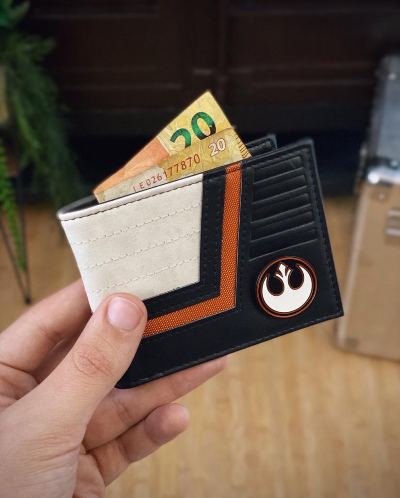 Carteira Emblema Aliança Rebelde Rebel Alliance Traje Star Wars