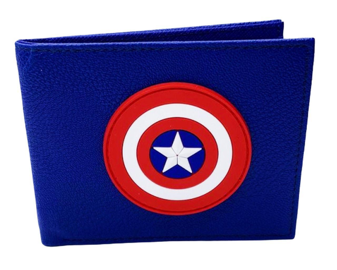 Carteira Escudo Capitão América (Captain America): Marvel Comics