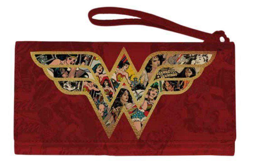 Carteira Logo Mulher-Maravilha (Wonder Woman): DC Comics (Vermelho)