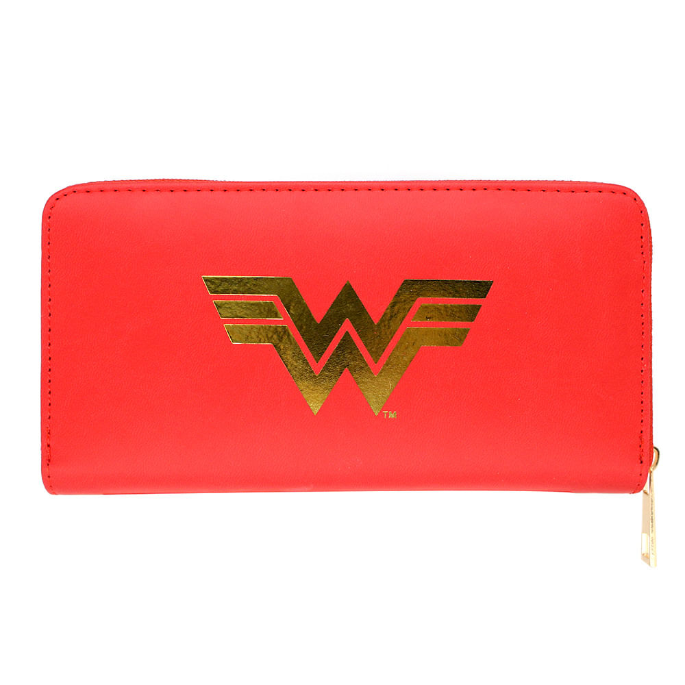 Carteira Logo Mulher Maravilha  Wonder Woman: Liga da Justiça Justice League DC Comics - Zona Criativa