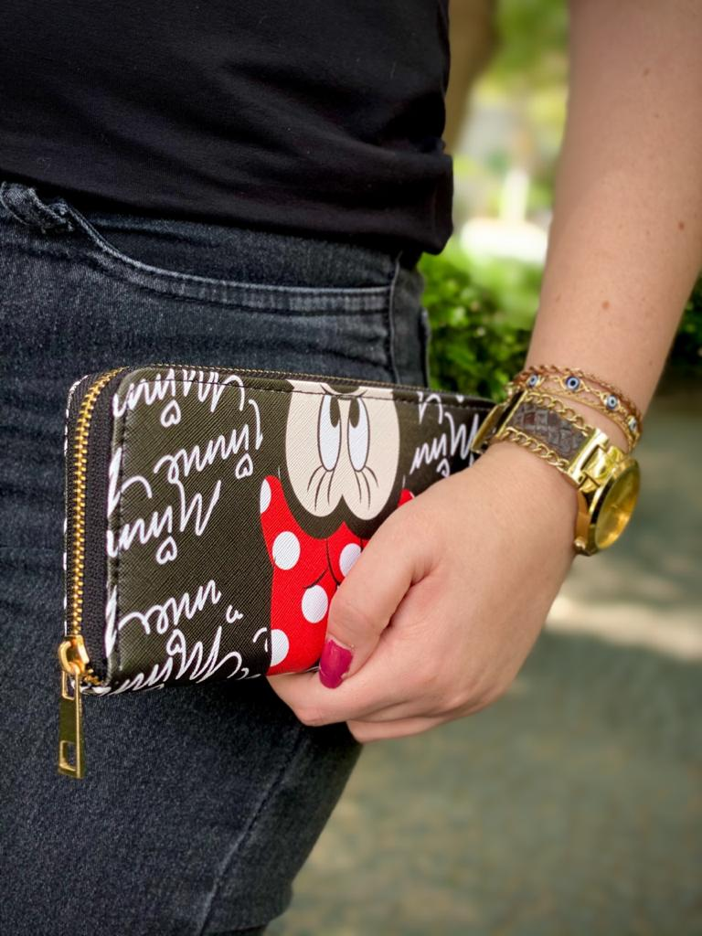 Carteira Minnie Mouse: Disney (Preta)