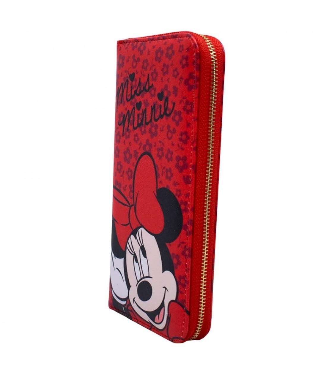 Carteira Miss Minnie Mouse: Mickey e Minnie Mouse - Disney (Vermelha)