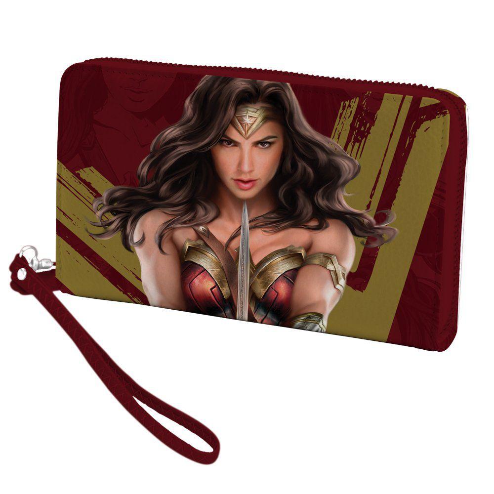Carteira Mulher-Maravilha (Wonder Woman): DC Comics (Vermelho)