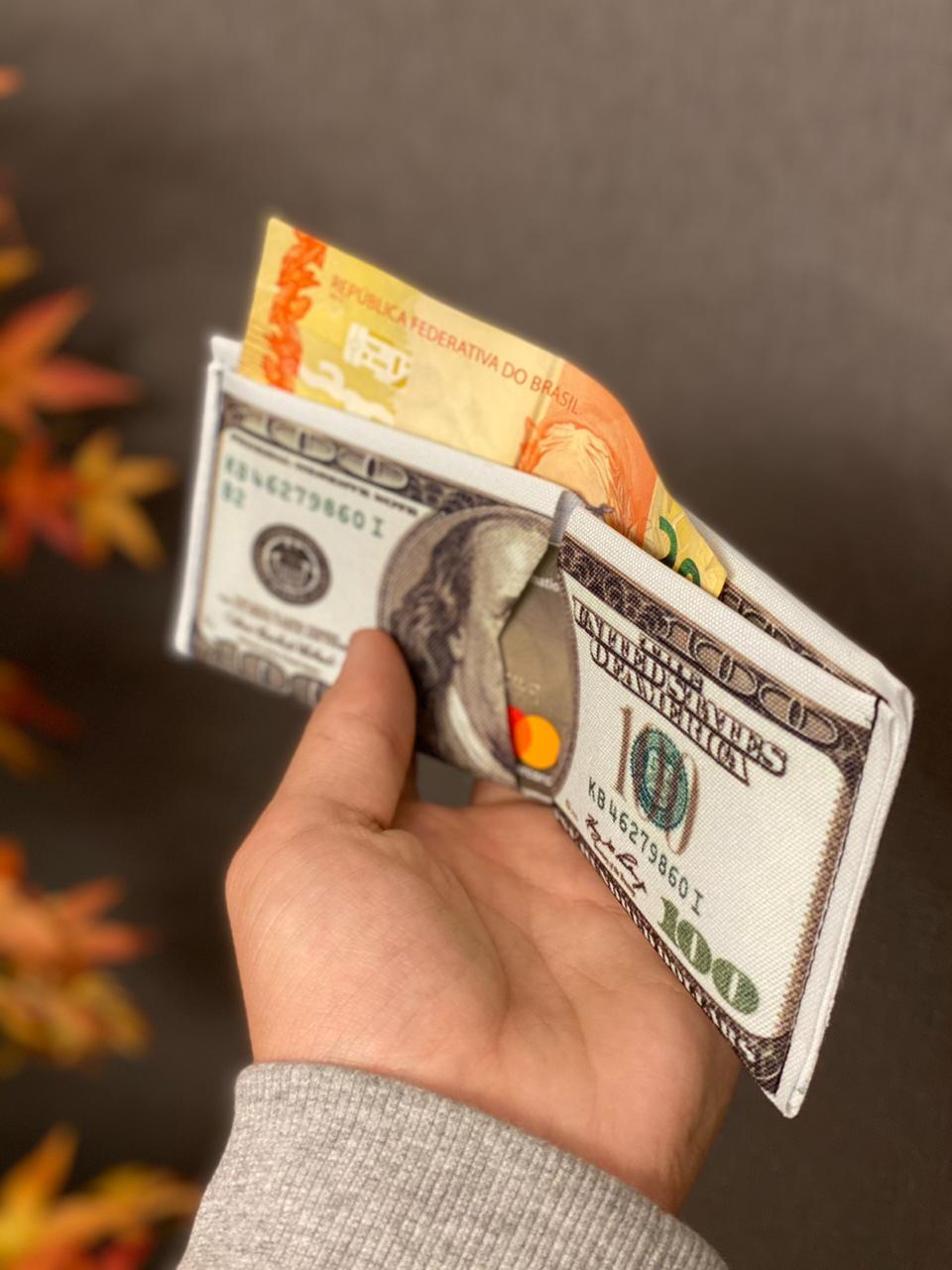 Carteira Slim 100 Dólares
