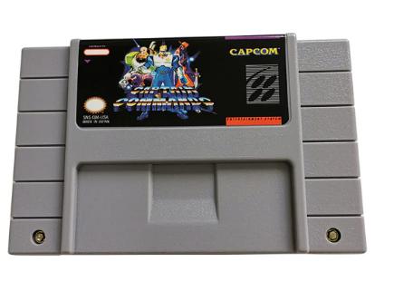 Cartucho Decorativo Super Nintendo: Capitão Comando Captain Commando - MKP