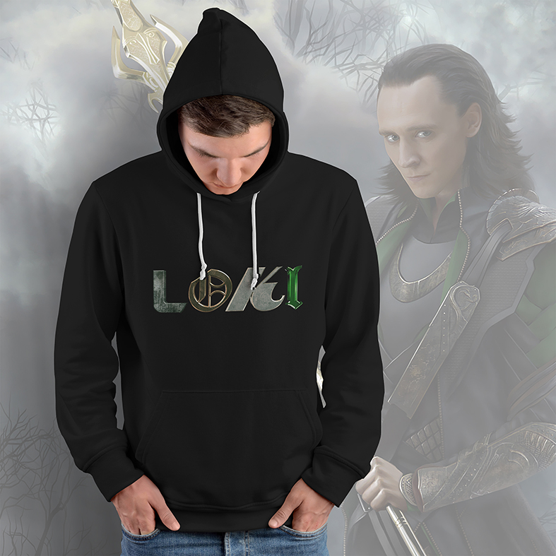Casaco Moletom Canguru Loki Marvel Studios Avengers Vingadores Disney+ (Preto)  - EV