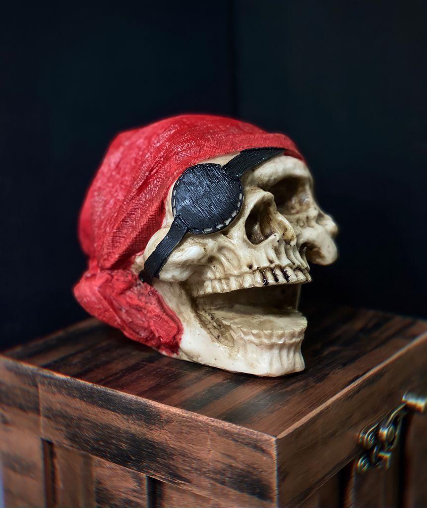 Caveira Crânio Skull Decorativa Pirata
