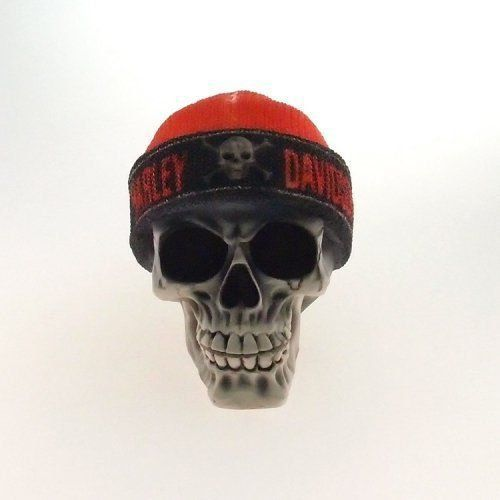 Caveira Gorro vermelho Harley davidson