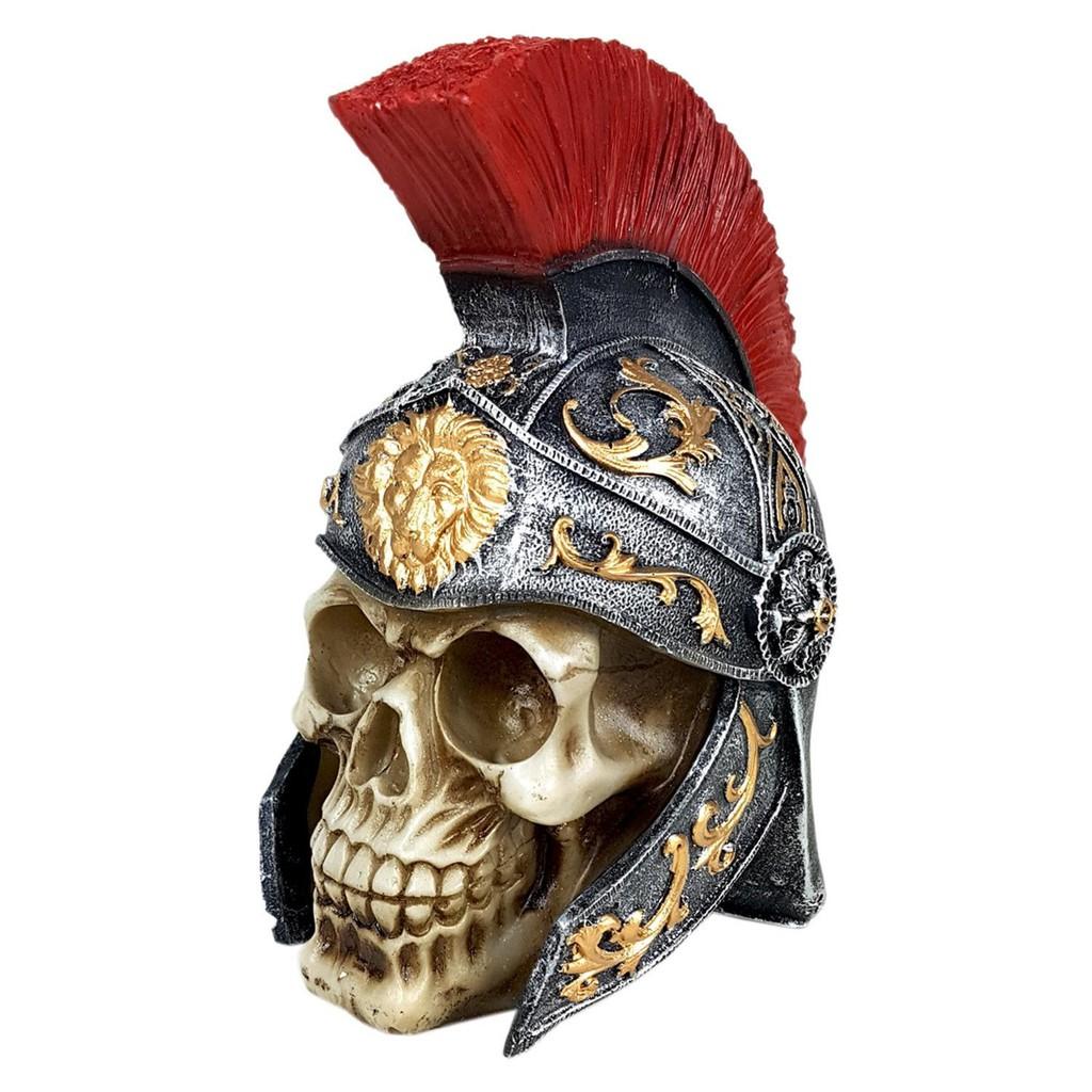 Caveira Skull Decorativa Medieval Centurião Soldado Romano Legionário
