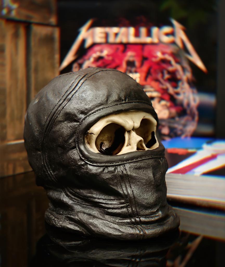 Caveira Skull Decorativa Motoqueiro Ninja