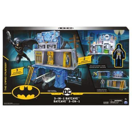 Cenário Playset Batcaverna Batcave Gotham City e Figura Batman: Dc Comics - Sunny