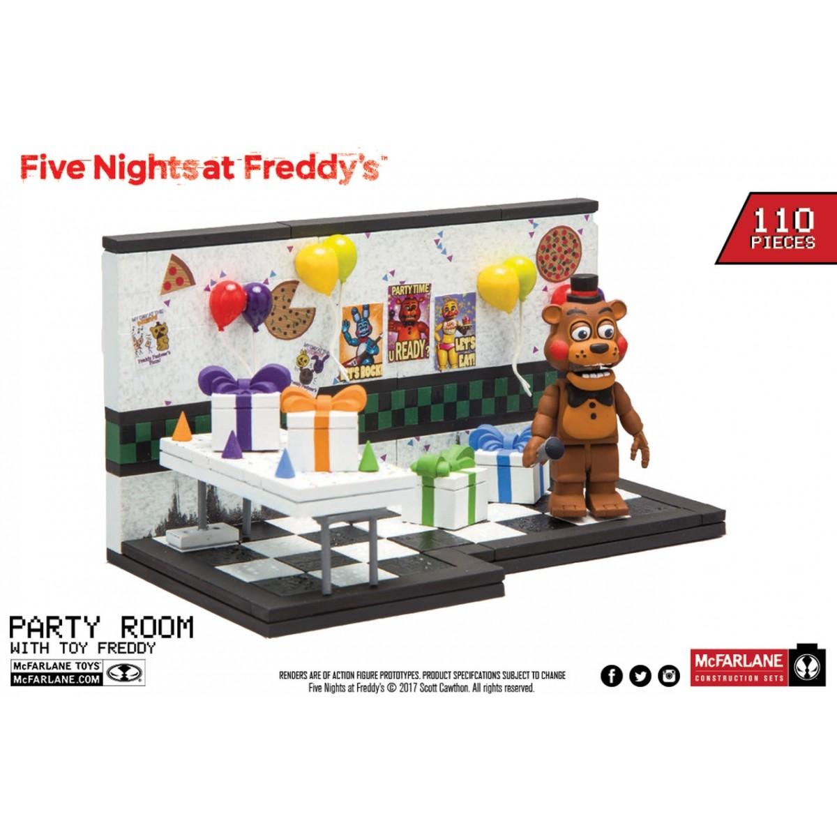 Cenário (Small Construction Set) Party Room: Five Nights at Freddy's com 110 Peças (FNAF) - Mcfarlane Toys