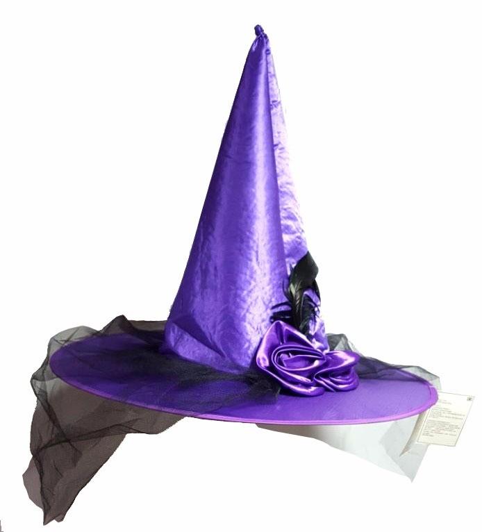 Chapéu Bruxa Roxo Halloween