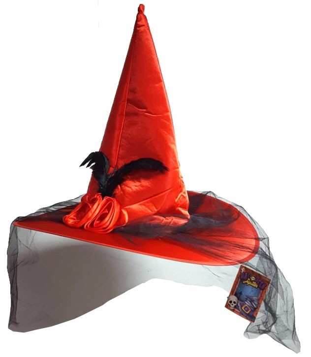 Chapéu Bruxa Vermelho Halloween