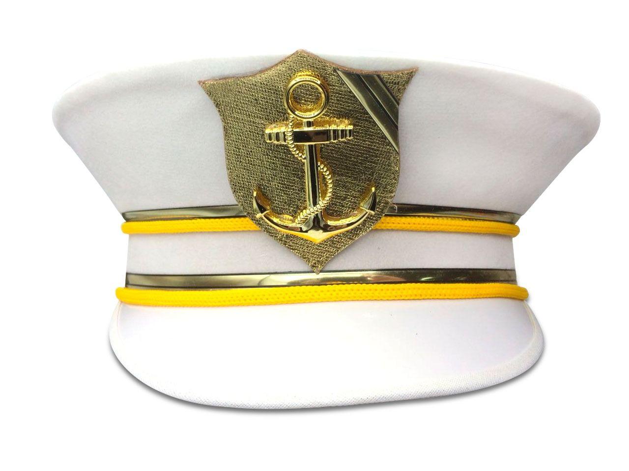 Chapéu Quepe Marinheiro - Acessório de Fantasia