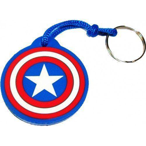 Chaveiro de Borracha Escudo Capitão América