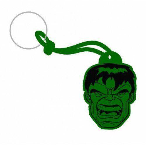 Chaveiro de Borracha Face Hulk