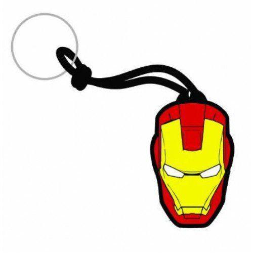 Chaveiro Borracha Iron Man Face