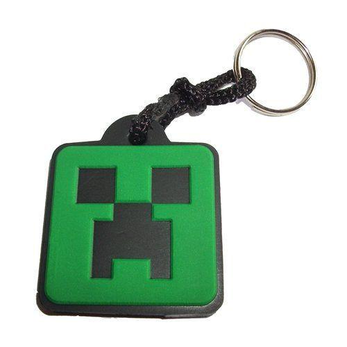 Chaveiro Borracha Minecraft Creeper