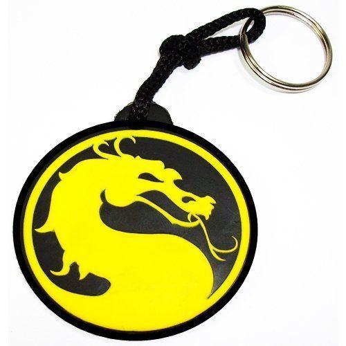 Chaveiro Borracha Mortal Kombat Logo