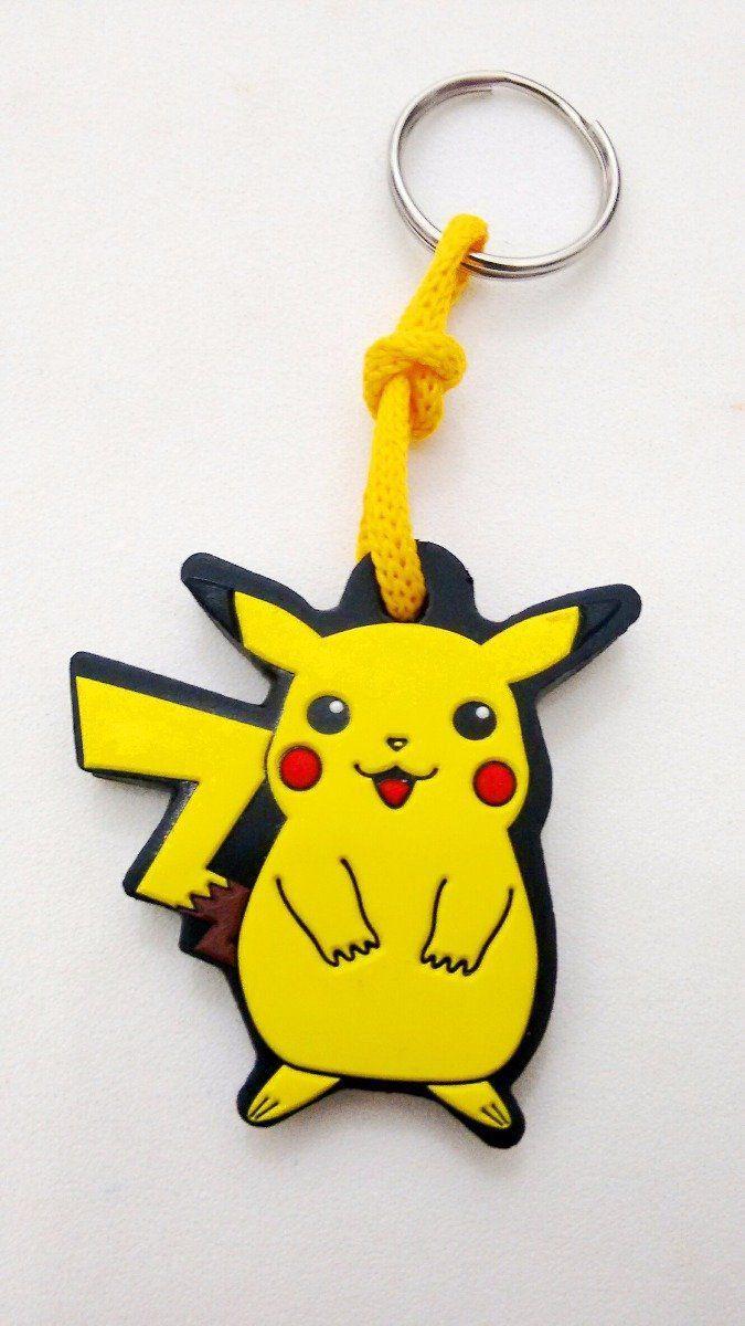Chaveiro Borracha Pokémon: Pikachu