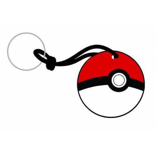 Chaveiro Borracha Pokémon Pokebola