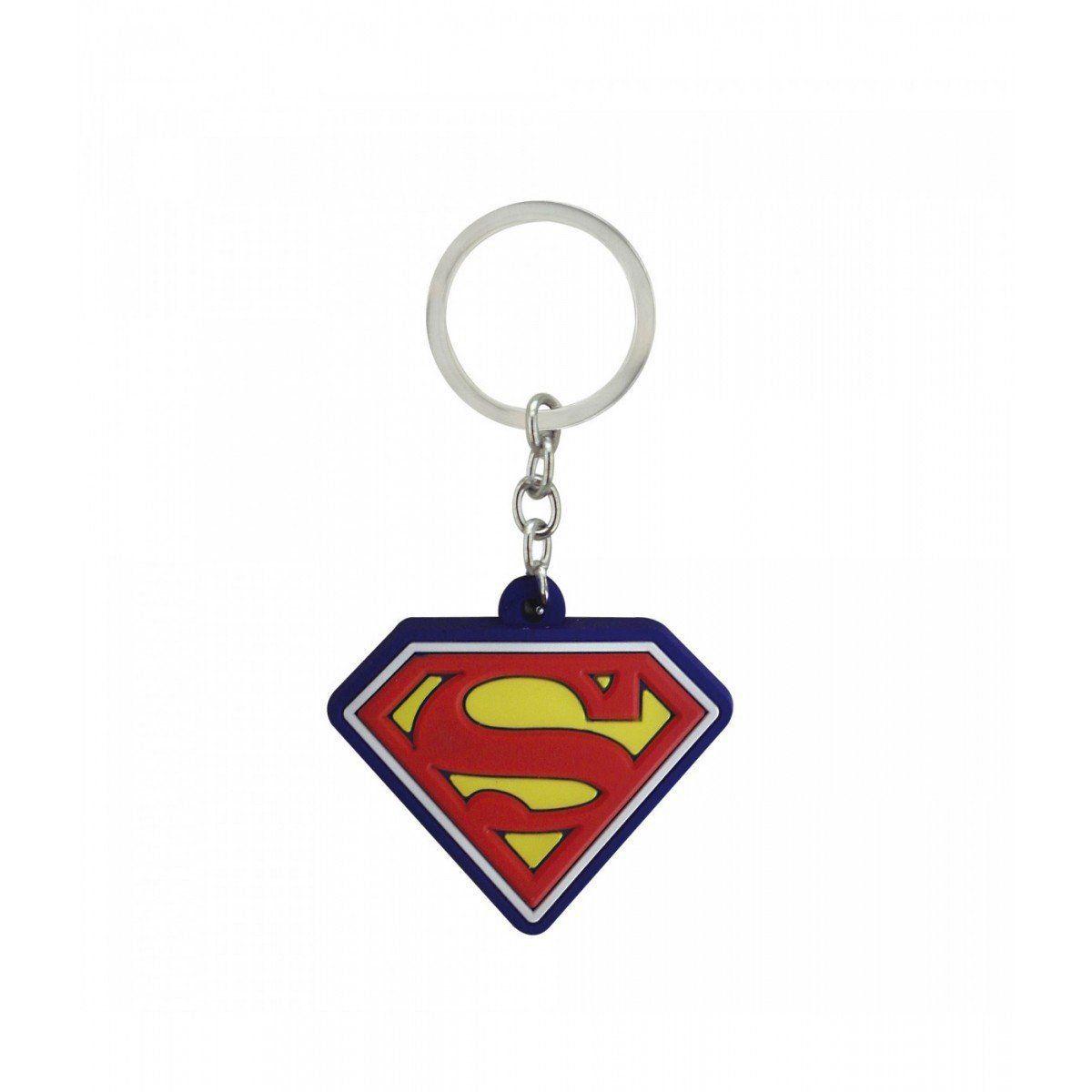 Chaveiro Borracha Superman Logo