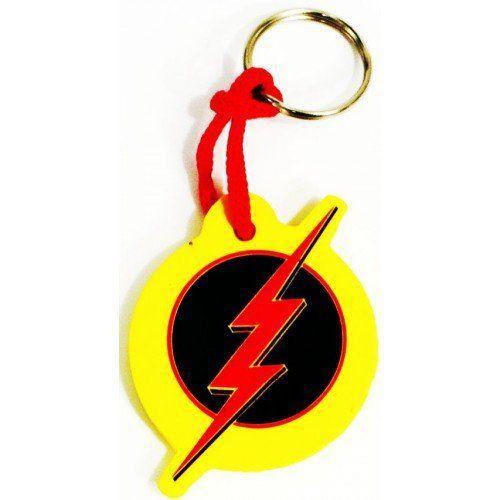 Chaveiro Borracha The Flash Reverso Logo