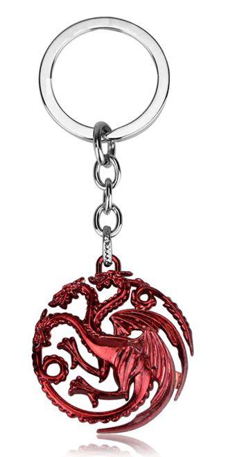 Chaveiro Brasão Casa Targaryen - Game Of Thrones (Vermelho)