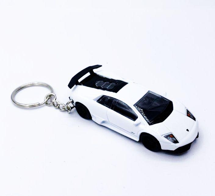 Chaveiro Carrinho: Lamborghini (Branco)