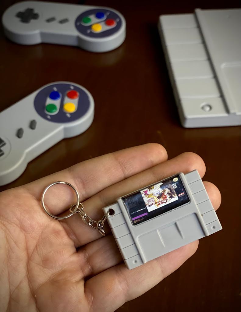 Chaveiro Cartucho Chrono Trigger - Nintendo