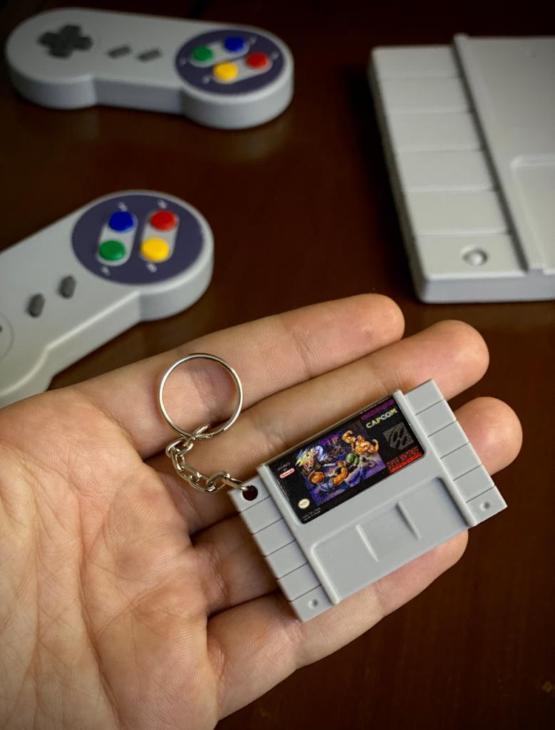 Chaveiro Cartucho Final Fight 2 - Nintendo
