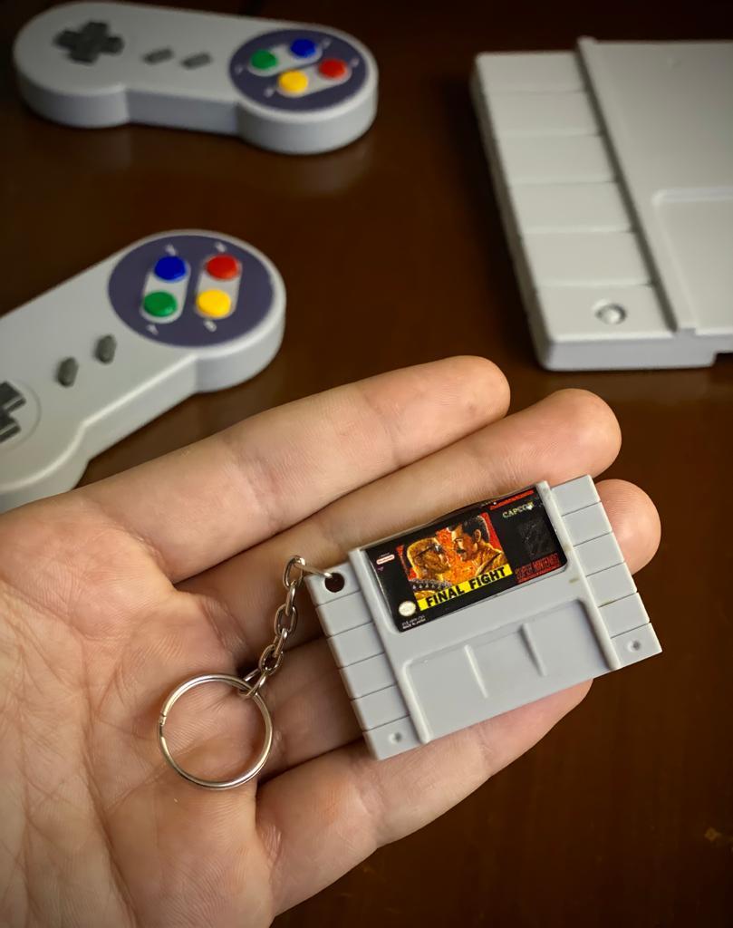 Chaveiro Cartucho Final Fight - Nintendo