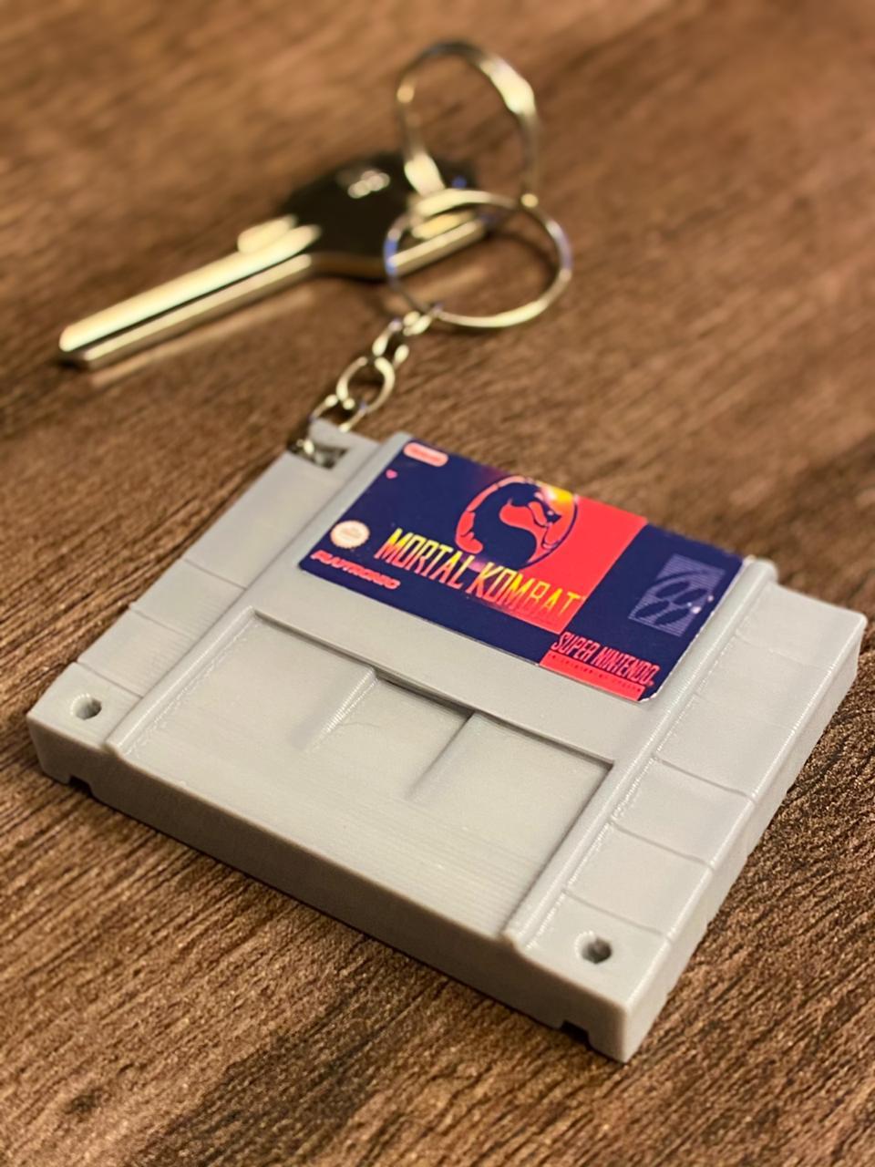 Chaveiro Cartucho Mortal Kombat.: Nintendo