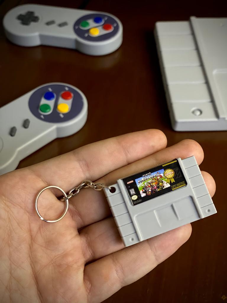 Chaveiro Cartucho Super Mario kart - Nintendo
