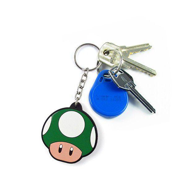 Chaveiro Cogumelo (Verde): Super Mario Bros - Fábrica Geek