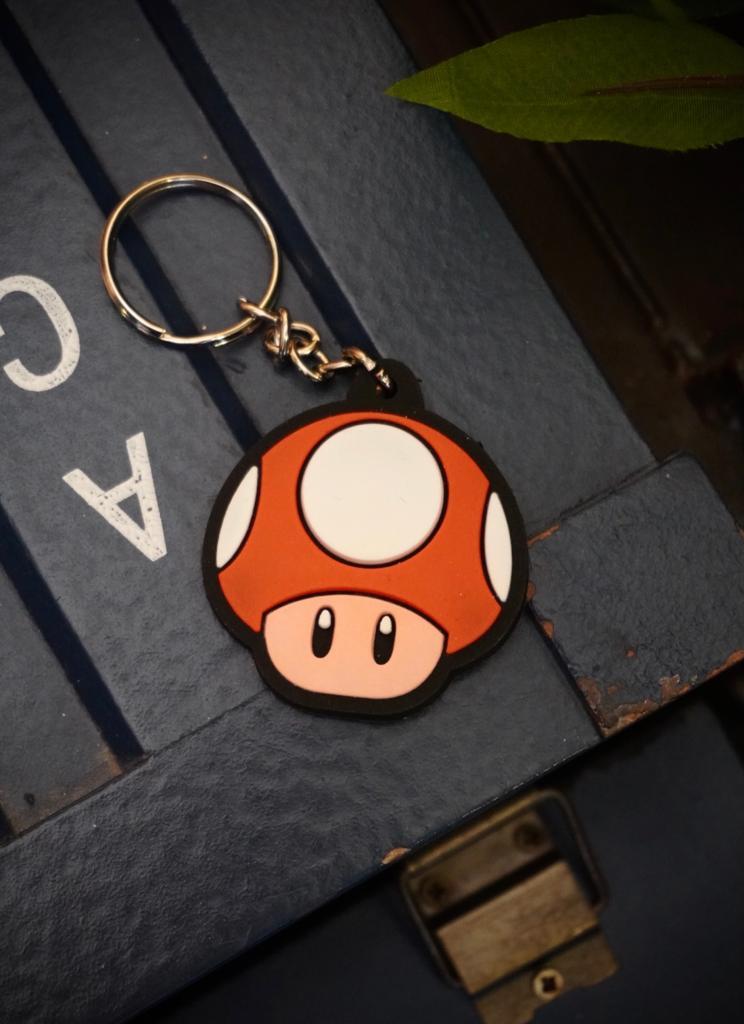 Chaveiro Cogumelo (Vermelho): Super Mario Bros