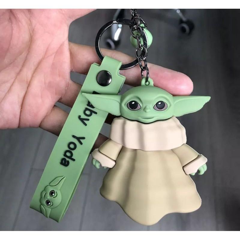 Chaveiro com Guizo Baby Yoda Grogu The Mandalorian Star Wars 8 cm