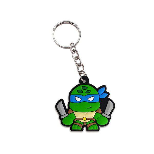 Chaveiro Cute Leonardo: Tartarugas Ninja