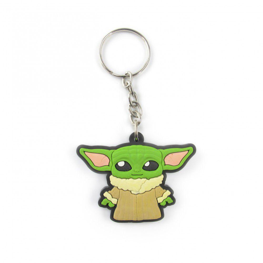 Chaveiro de borracha: Baby Yoda: The Mandalorian - Star Wars