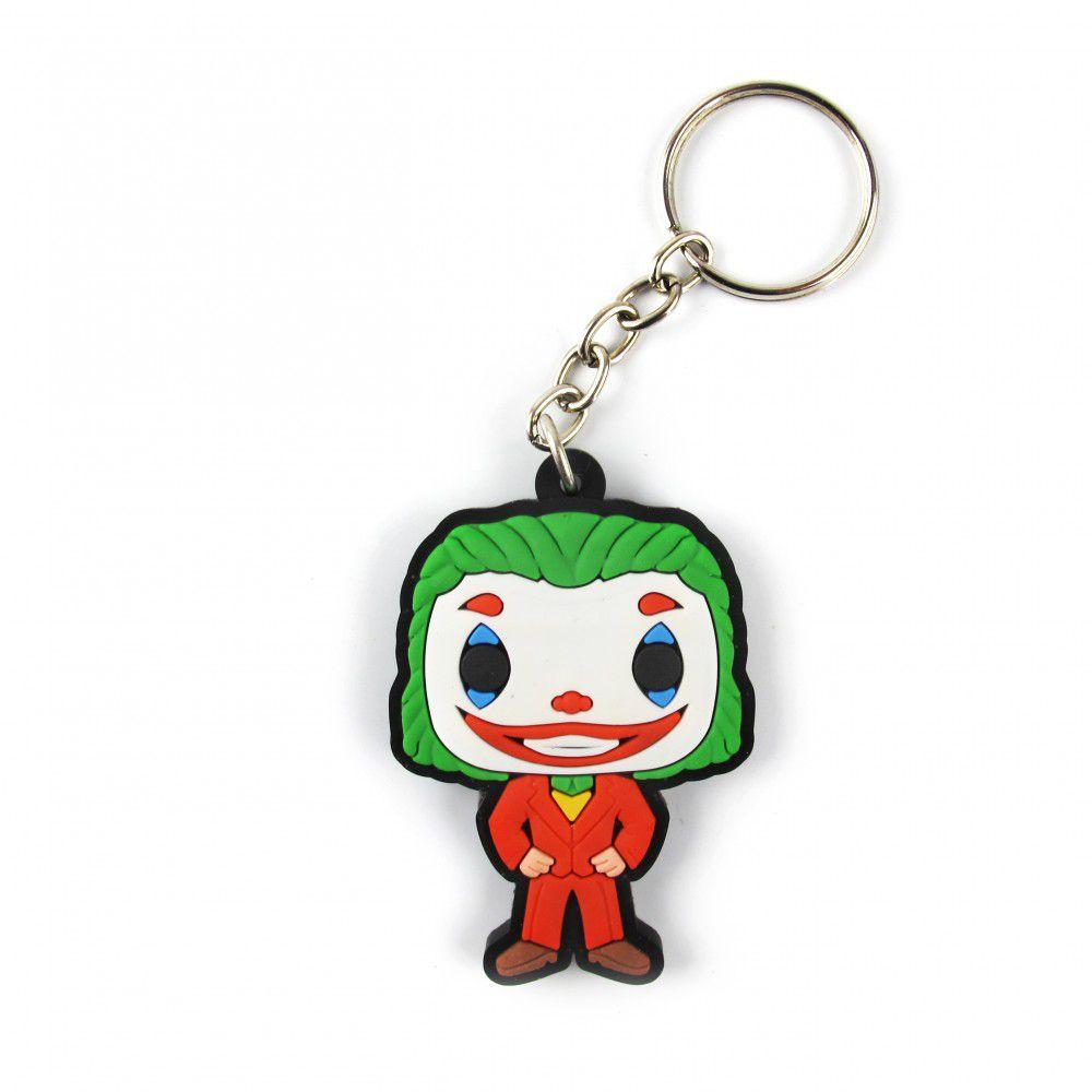 Chaveiro de Borracha Coringa (Joker) Joaquin Phoenix