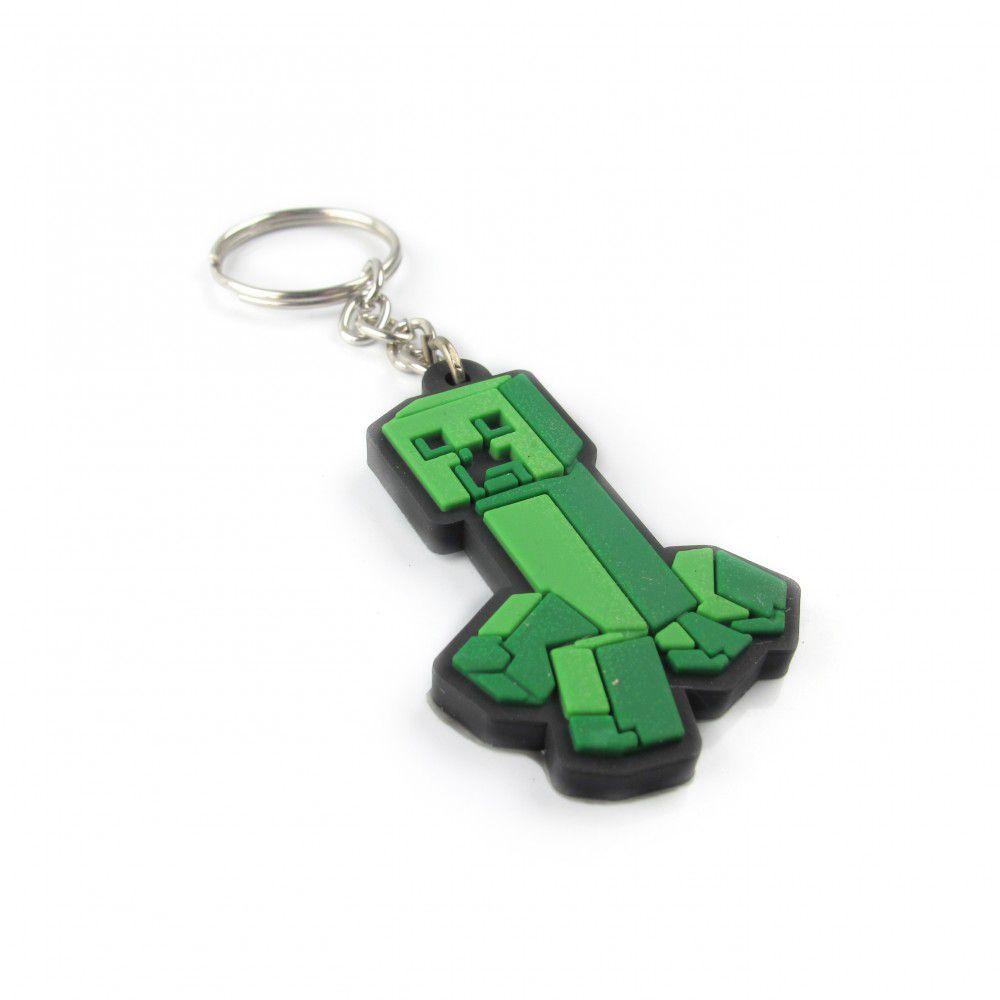 Chaveiro de borracha: Creeper: Minecraft - Fabrica Geek