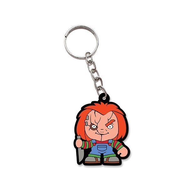 Chaveiro de borracha:Cute Chucky: Brinquedo Assassino - Fabrica Geek