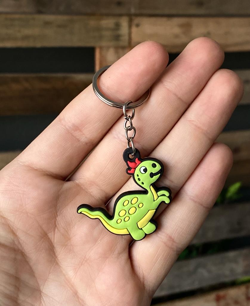 Chaveiro de Borracha Dinossauros